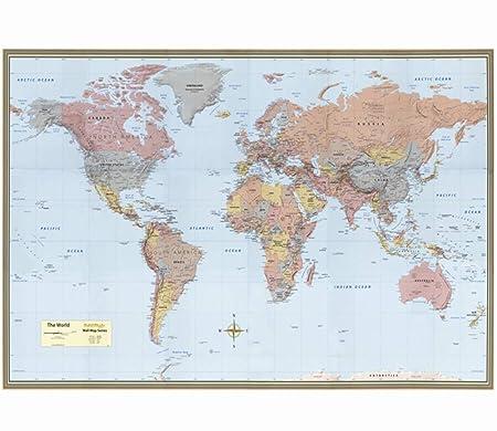 EP-Home Cartel del Mapa Mundial, Mapa de rascar, Mapa de ...