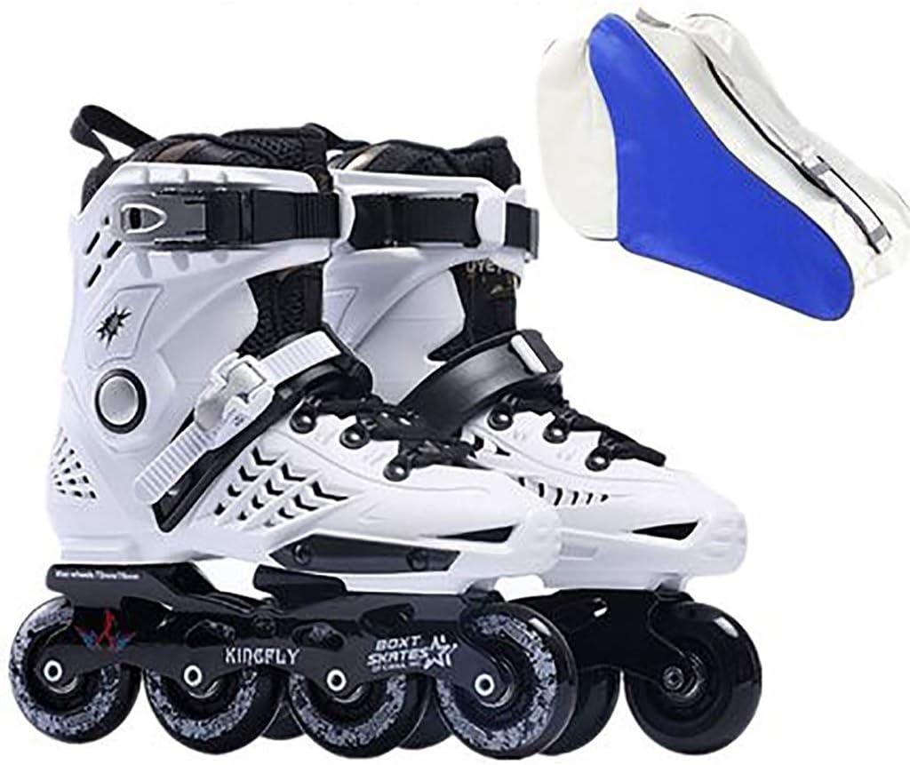初心者初心者ファンシーローラースケート、大学の男性と女性のプロのインラインスケート (Color : 白い, Size : EU 38/US 6/UK 5/JP 24cm) 白い EU 38/US 6/UK 5/JP 24cm