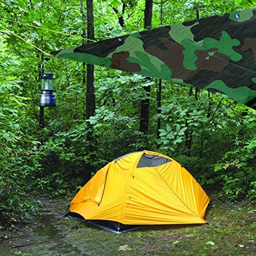 Performance Tool W6007 Reinforced Water Resistant Multi Purpose Green /& Brown Camouflage Tarp 4mil 10-Feet by 12-Feet