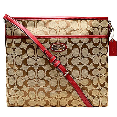 Coach 12CM Signature File Bag 36378 Classic Red