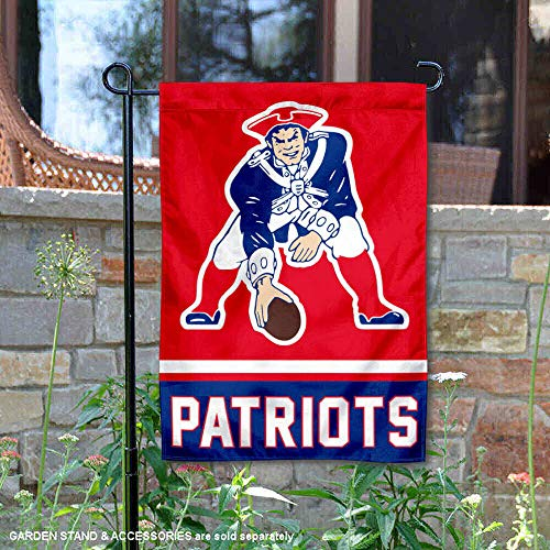 - WinCraft New England Patriots Retro Pat Patriot Double Sided Garden Flag