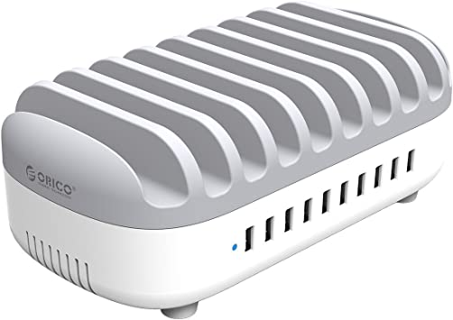 ORICO 120W Estación de Carga USB con 10 Puertos, USB Multi ...
