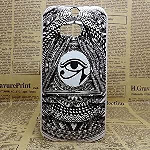 New Painting Hard PC Plastic Phone Case For HTC M8 +screen protector (One eye)