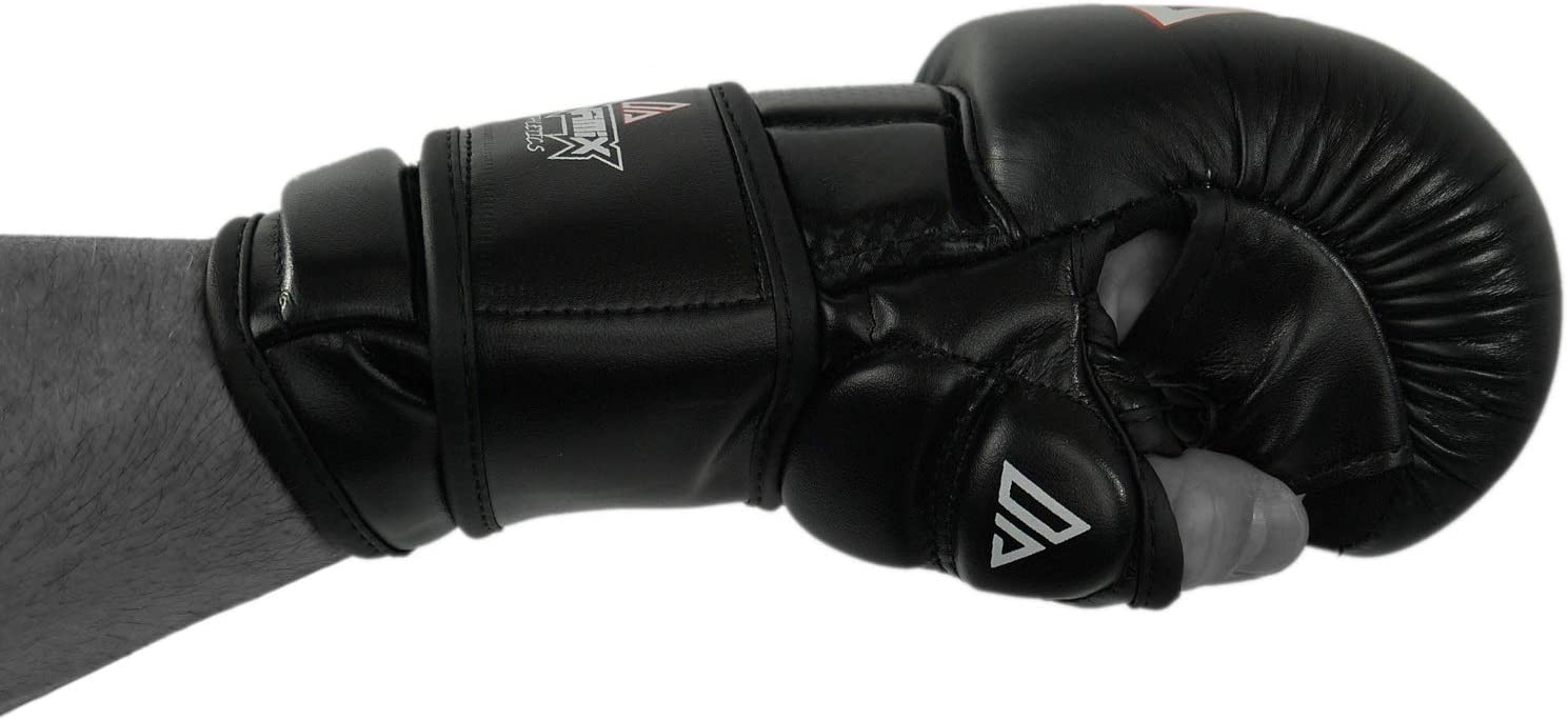 Grappling Freefight BJJ Handschuhe mit 5cm starker Polsterung und Daumenschutz Dynamix Athletics MMA Sparring Handschuhe Elevate