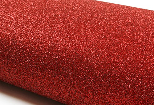 Peel & Stick Glitter Sand Contact paper Shelf Liner Table and Door Reform Red : 11.81inch X 48.03inch