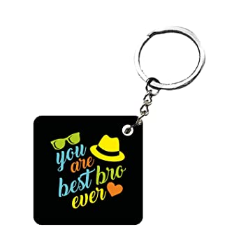 Funky Store Birthday Gifts For Brother You Are The Best Bro Ever Wood Square Keychain Keyring Amazonin Bags Wallets Luggage