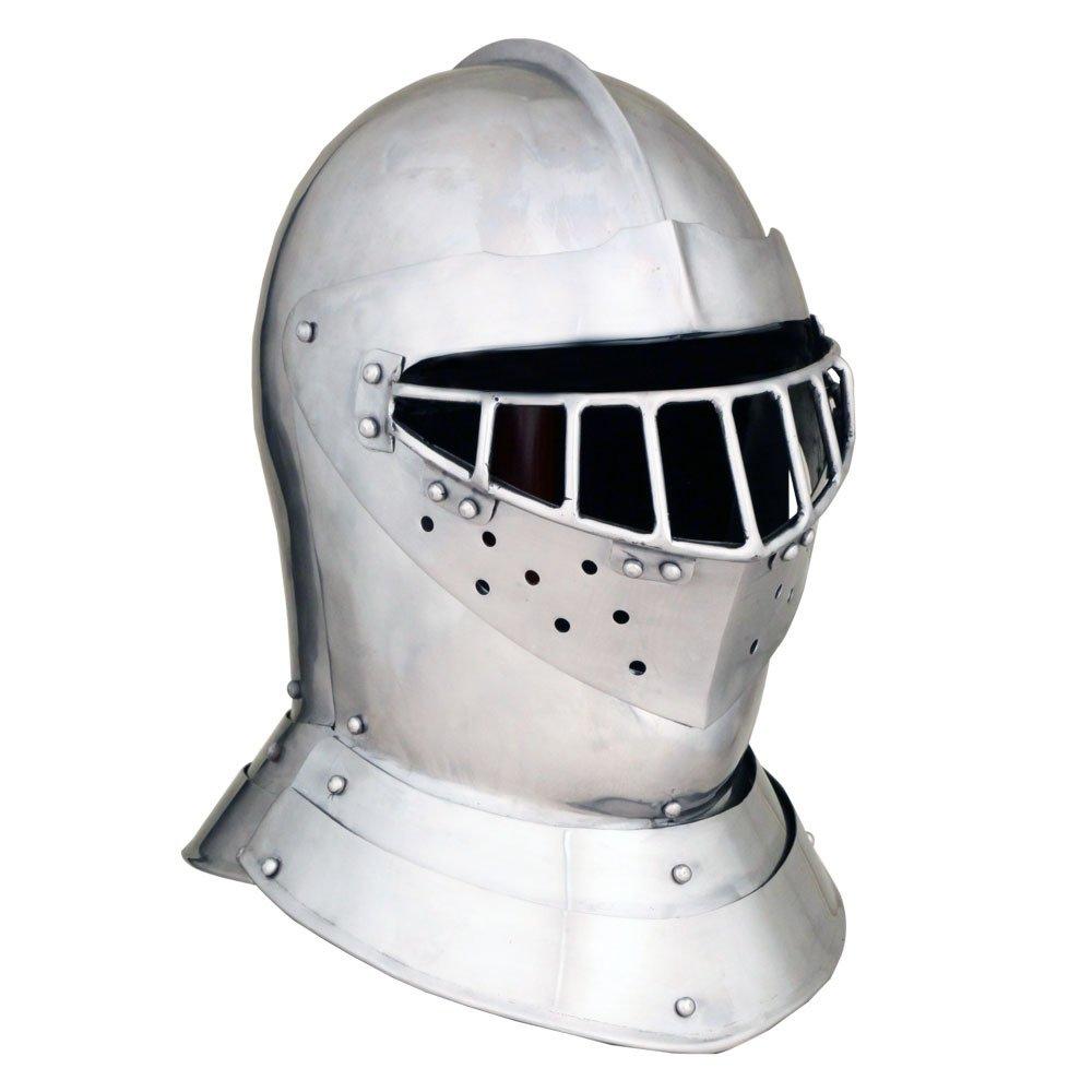 English Tourney Close Helm - 14 Gauge