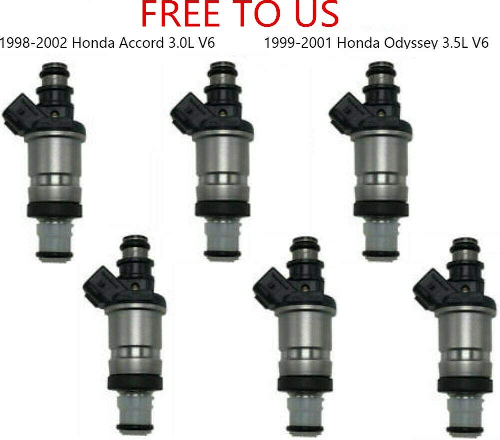 SET 6PC For Honda Fuel Injectors For 1998-1999-2000-2001-2002 For Honda Accord 3.0L V6
