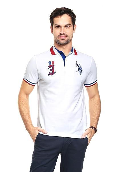 US Polo ASSN Playera Blanca tipo Polo Polo para Hombre Blanco Talla ... 30e29f551cd9b