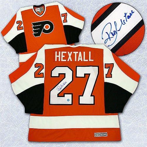 ... uk autographed ron hextall philadelphia flyers retro ccm orange jersey  signed nhl jerseys chic 57564 1eb0d 0cccfdc85