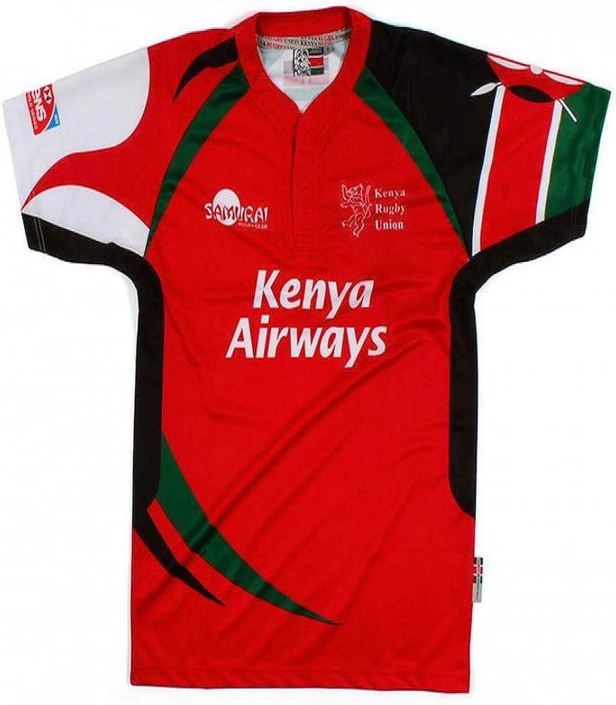 Kenia 7S – – Camiseta de rugby con 7 réplica MC, Hombre, rojo ...
