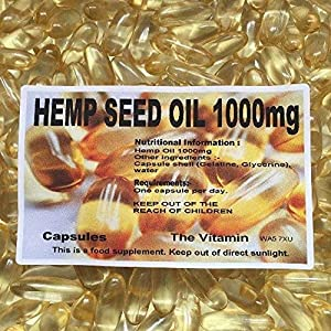 The Vitamin Hemp Seed Oil 1000mg 60 Capsules – Bagged