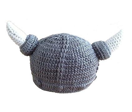 84da13616ef8f7 VISKEY Unisex Baby Handmade Knitting Viking Hat Ox Horn Beanie:  Amazon.co.uk: Baby