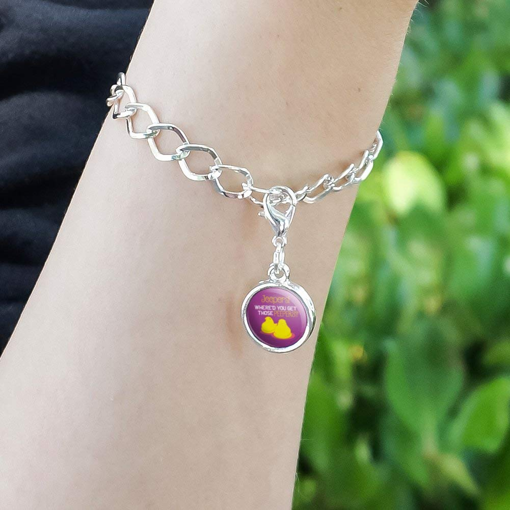 GRAPHICS /& MORE Jeepers Whered You Get Those Peepers Peeps Antiqued Bracelet Pendant Zipper Pull Charm with Lobster Clasp