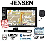 Jensen VX7022 6.2'' Touchscreen Monitor w/ DVD Navigation and Built in Bluetooth SiriusXM Tuner and Antenna with Backup Camera and FREE SOTS Air Freshener