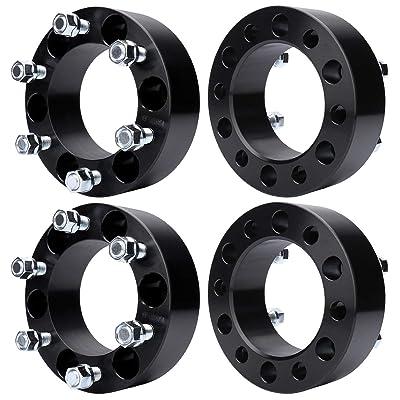 MAYASAF Wheel Spacer Adaptors for Chevy/GMC 1500/C2500/K2500, Tahoe/Astro/Yukon(XL)/Avalanche, Cadillac Escalade ESV/EXT, 6x5.5 Bolt Pattern, 108mm Hub Bore M14x1.5 Studs [6 Lugs, 2 in, 4 Pack]: Automotive