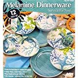 Melamine Dinnerware 12 Piece Set - Aquamarine #1069807
