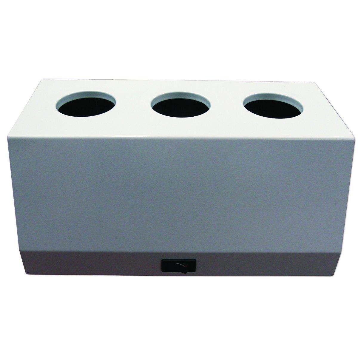 PDC Healthcare UPL-40 Ultrasound Gel Warmer, Holds 3 Bottles, 110V, White (Pack of 1)