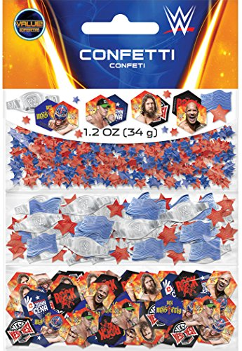 amscan WWEParty Confetti Value Pack, Party Favor -