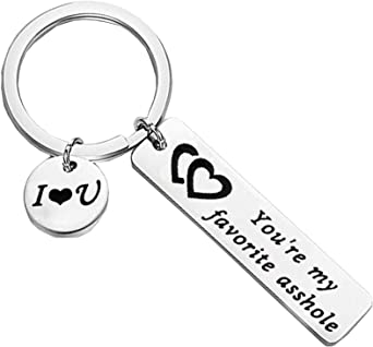 Funny Couple Keychain Gifts Boyfriend Girlfriend I Hope Your Day is As Nice As My Butt Gag Keychain Birthday Valentine/'s Day Anniversary Wedding Gifts for Best Friends BFF Men Women