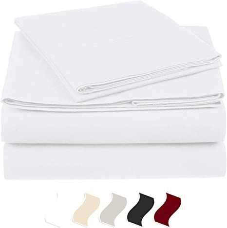 1000 TC Organic Cotton US King Size All Soft Bedding Items /& Solid//Stripe Colors