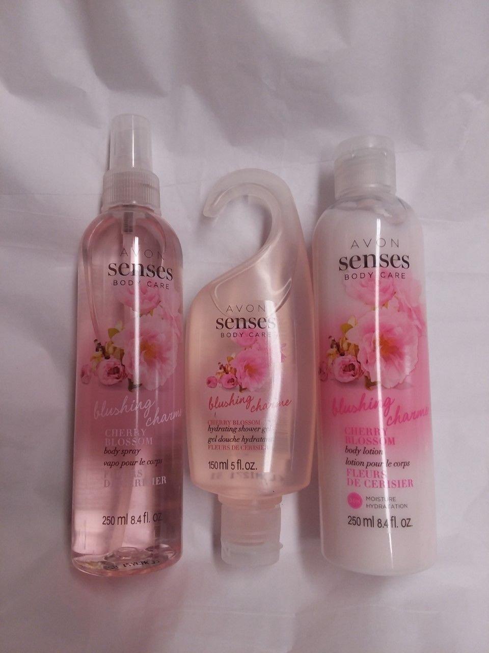 Avon Naturals Blushing Cherry Blossom 3 pc. Set