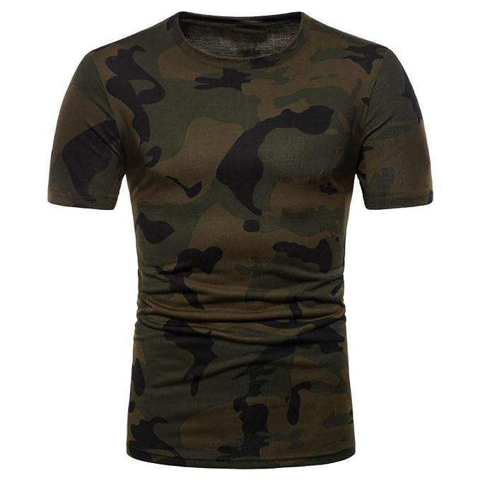 OHQ Camisa De Polo Camiseta Estampada De Manga Corta con Estampado De Camuflaje Personalizado para Hombre