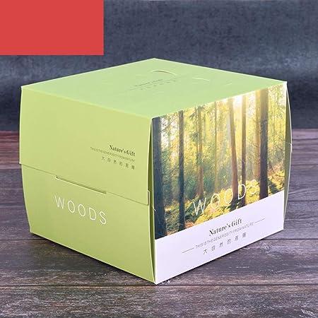 Cajas de regalo para cupcakes, 15 unidades, caja portátil para pasteles, caja de aperitivos, cajas de regalo, Grün, 15 * 15 * 12 cm: Amazon.es: Hogar
