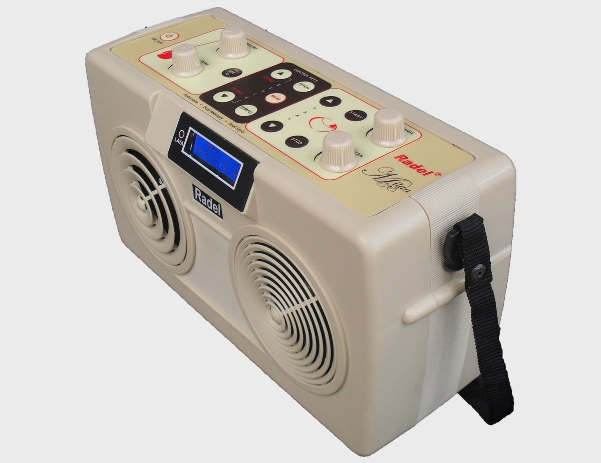 The Radel Milan is the first of its kind unique 2-in-1 Digital Tabla-Tanpura. by Radel