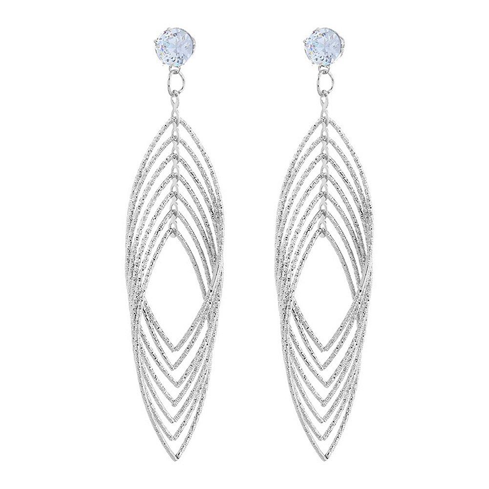 Women Fashion Long Dangle Party Earrings Rhinestone Ear Stud Jewelry 1Pair