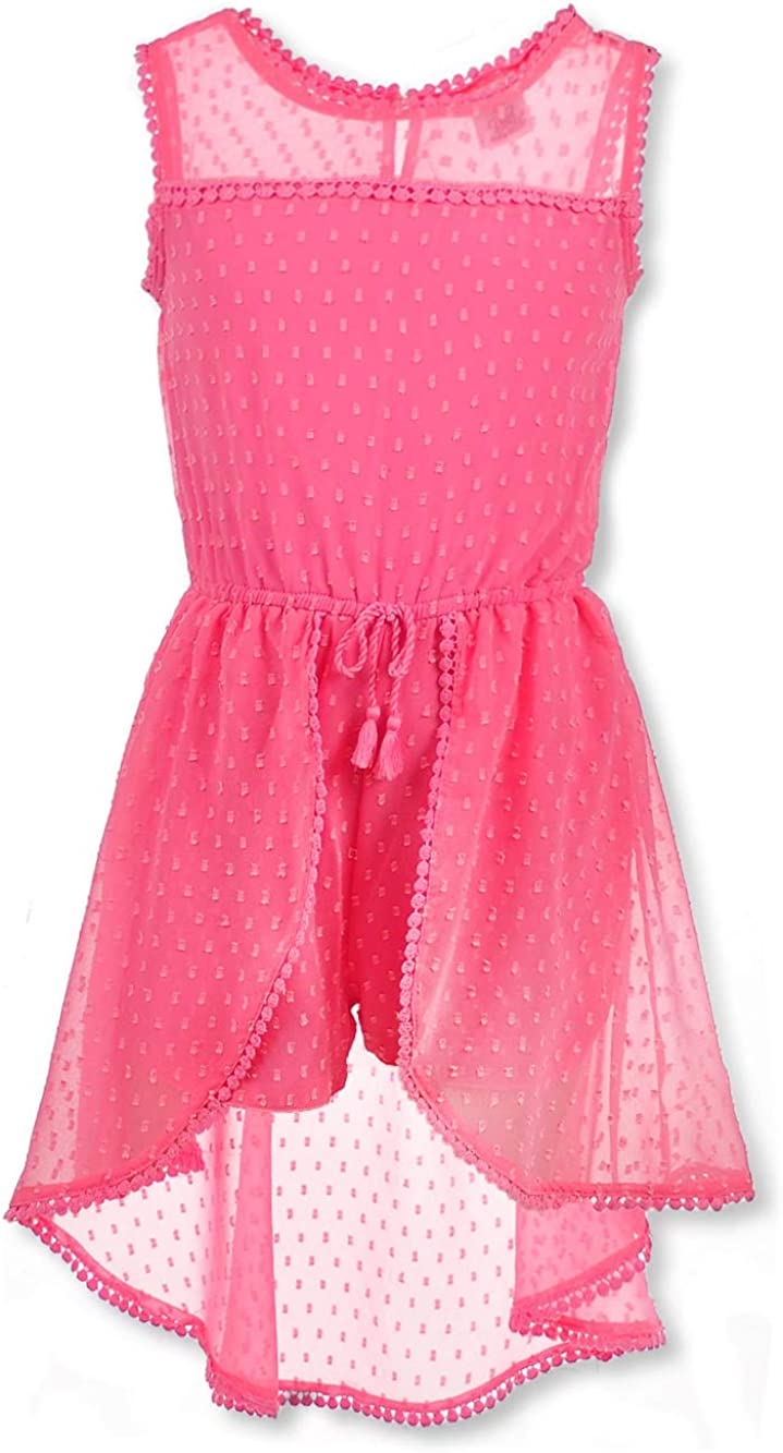 Real Love Girls Swiss Dot Maxi Romper