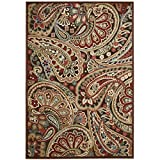 Rug Squared Corona Paisley Area Rug (CRA14), 5-Feet 3-Inches by 7-Feet 5-Inches, Multicolor
