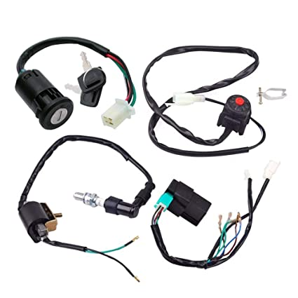 cdi box wire harness wiring loom kill switch ignition coil spark plug  rebuild kit for for