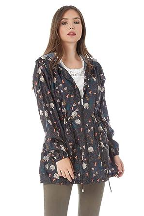 Roman Originals Women Floral Print Mac Raincoat - Ladies Long Sleeve  Daytime Outwear Coats Casual Weekend 319818209