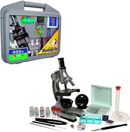 Microscope Set with Carry Case 28 Pieces Kids Educational Toy Heebie Jeebies