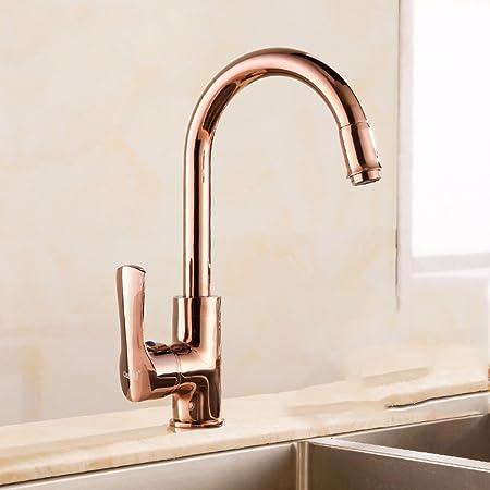 Lsrht Basin Taps Mixer Kitchen Sink Faucet Copper Kitchen Hot And