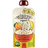 Rudolfs Baby Organic Peach Banana Oat Porridge 4+ Months, 110g