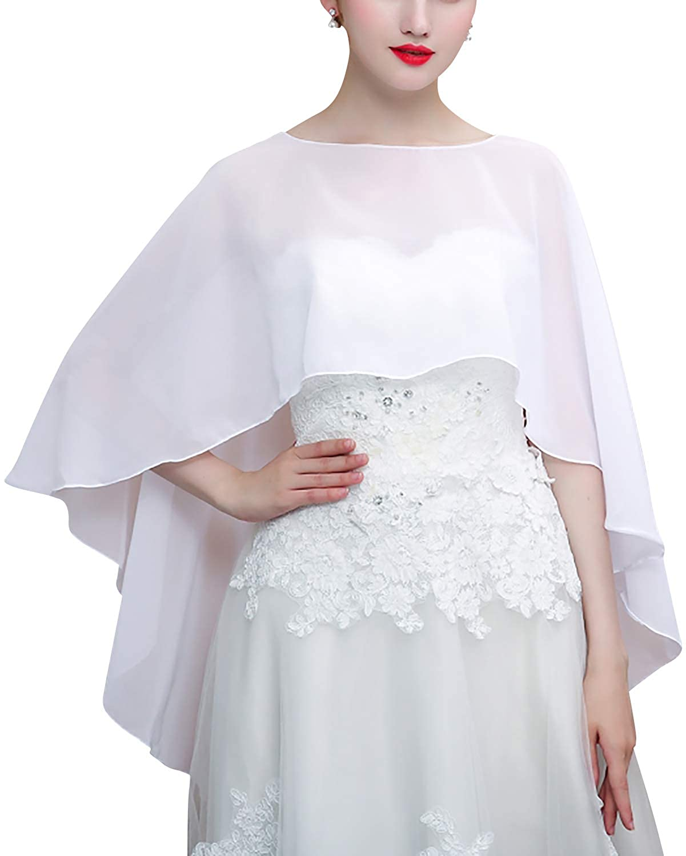 Chiffon increspatura Scialle per il tempo libero e il commercio nuziale bridemaids Abiti da sera partito YAOMEI Donna Sciarpa Stole Scialli