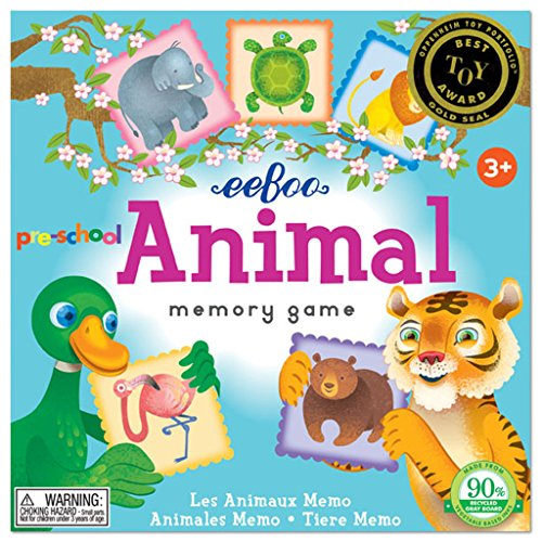eeBoo Preschool Animal Memory Matching Game