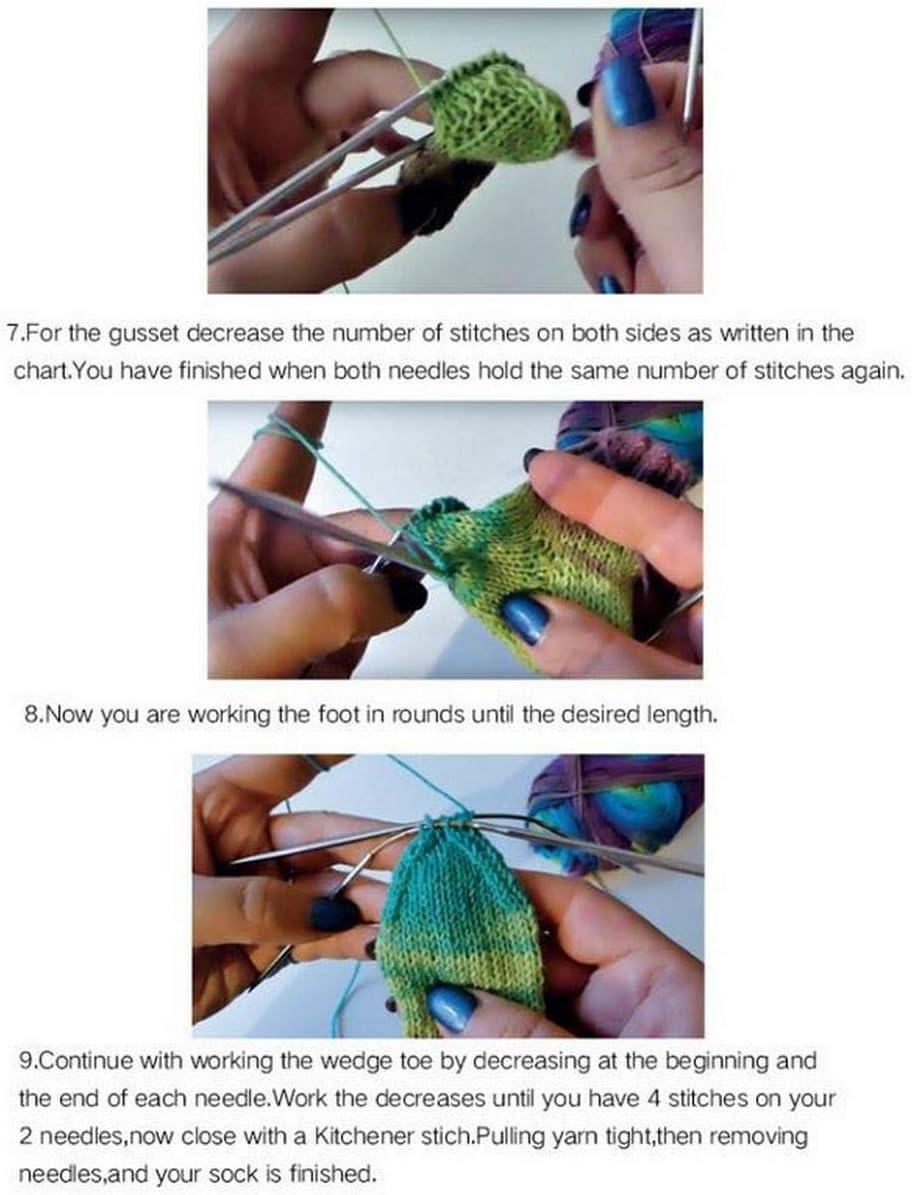 3 Pieces Addi 160-2-21cm 8.2 Circular Knitting Needles Socks//Sleeve DIY Needle for Arts Crafts 2.25mm