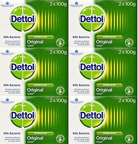 Dettol Antibacterial Soap 100g Twin Pack x 6 Packs by HealthMarket