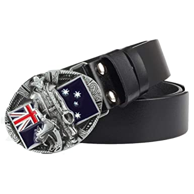 9eaf39f4d Image Unavailable. Image not available for. Color  Buckle Belt Black Red  Leather Stitched Belt With Matching Alloy ...