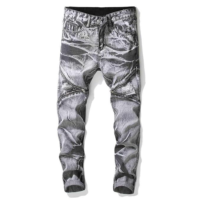 AmaSells - Pantalón de Traje - para Hombre Azul/Negro 30 ...