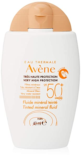 Avene - Solar Fluido Mineral Color spf 50+ 40ml: Amazon.es