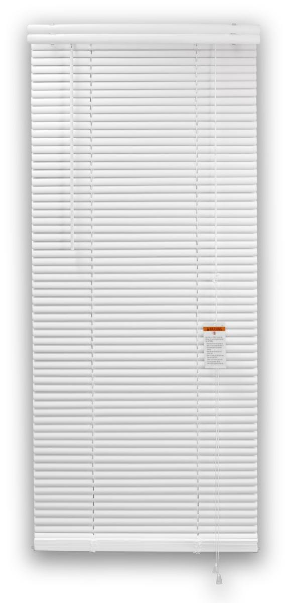 DEZ FURNISHINGS 28133 1-Inch Premium Vinyl Blind, 29-Inch W X 84-Inch L, White by DEZ Furnishings (Image #1)