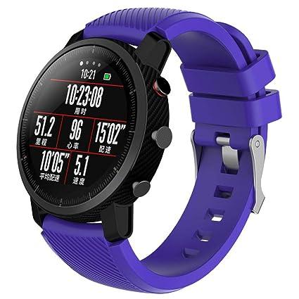 Modaworld _Correa de reloj Suave de Silicona Sports Band para HUAMI Amazfit Stratos Smart Watch 2 Correas de Reloj Inteligente Pulseras de Repuesto