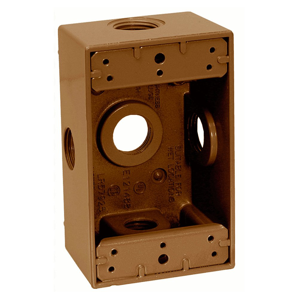 Sigma Electric 14251-5XBR 1/2-Inch 5 Hole 1-Gang Side Entry Box, Bronze