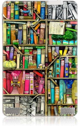 GelaSkins Protective Kindle Skin (Fits 6 Display, 2nd Generation Kindle), Bookshelf