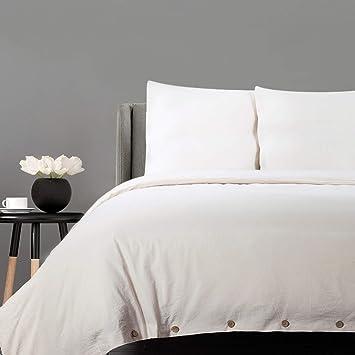 Bedsure Baumwolle Bettwäsche 135x200cm Beige Bettbezug Mit