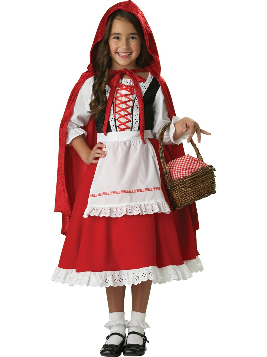 Girls 2-6X Little Red Riding Hood Dress Set, Extra Small